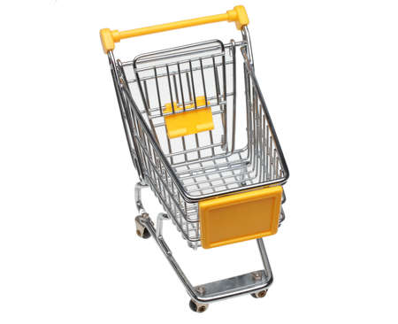 shopping buggy: A shopping cart or trolley over white