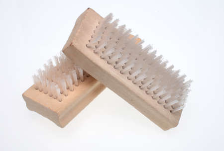 symbolically: A nailbrush over white ground, beauty product
