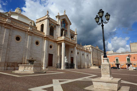 cathedrale: The cathedrale of Manfredonia in Apulia, Italy