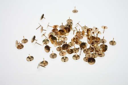 push pin: thumb tack or push pin is a short nail or pin
