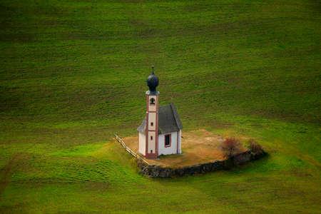 magdalena: church Ranuikirch St. Johann near Sankt Magdalena, Trentino, Italy