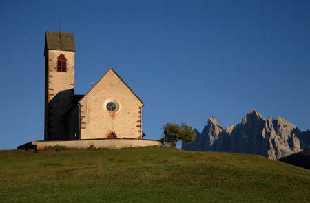 trentino: church of Sankt Jacob in Val di Funes, Trentino, Italy