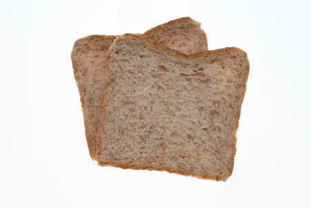 slices of Wholemeal toast bread on white