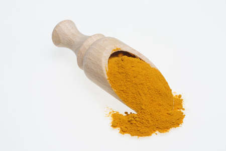 pseudoscience: Turmeric, Curcuma longa, a rhizomatous herbaceous perennial plant as spice and medicinal herb Stock Photo