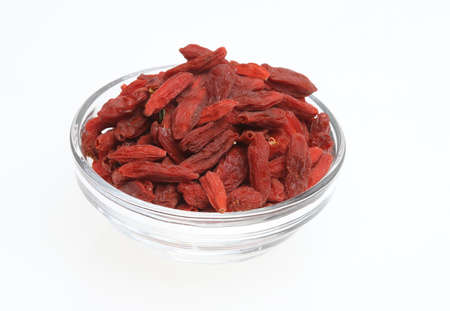 lycium: Goji berries, a fruit berry and medicinal plant Stock Photo