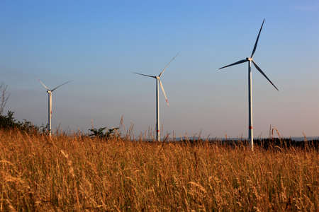 kinetic energy: Wind turbines on the Goerauer Anger, district of Kulmbach, Upper Franconia, Bavaria, Germany