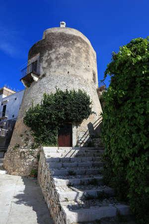 ruin: ruin of the castle of Vieste, Gargano, Puglia, Italy Stock Photo