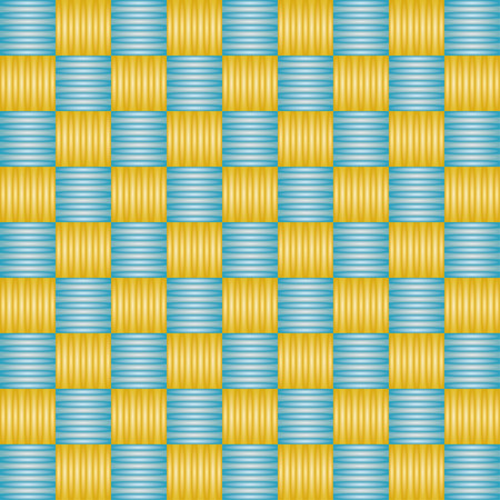Abstract background with blue and golden squares