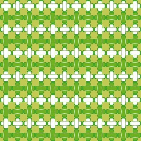 Abstract background with green and white forms interlocking Ilustrace