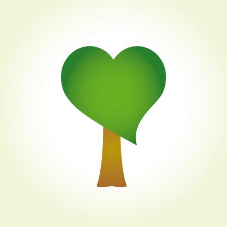 Tree with heart-shaped foliage Ilustração