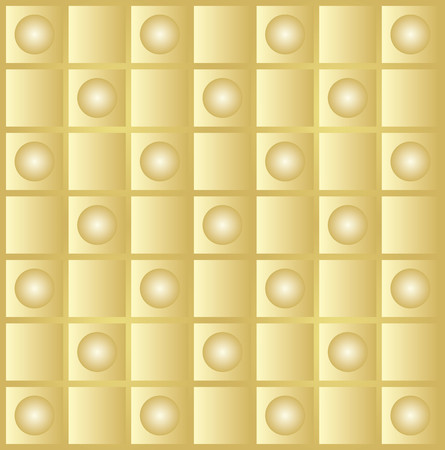 finesse: Abstract background gold with square and circular shapes