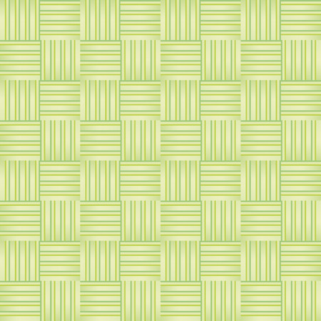 interlocking: Pattern with green squares and decorations interlocking relief effect