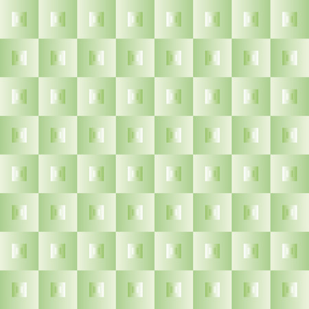finesse: Pattern with green squares and brilliant effect decorations