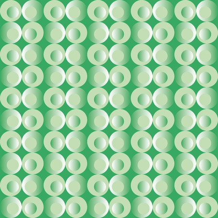 finesse: Pattern with circles in various shades of green brilliant effect