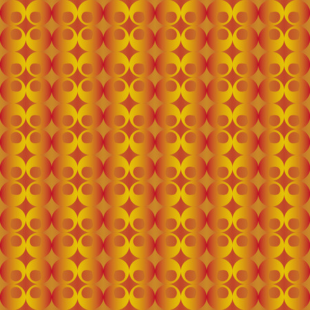 finesse: Abstract pattern with red and golden floral decorations Illustration