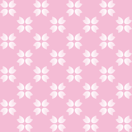 finesse: Florlal pattern with pink and white flowers on pink background