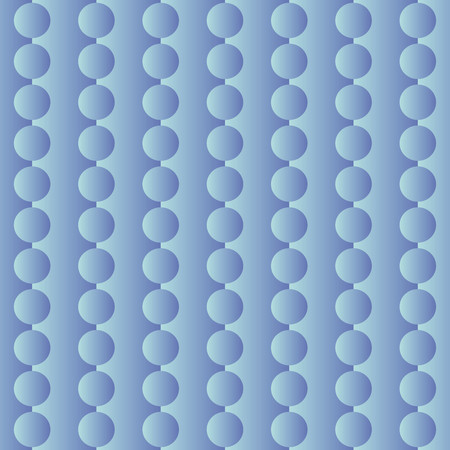 finesse: Pattern with circular shapes on blue background silk effect