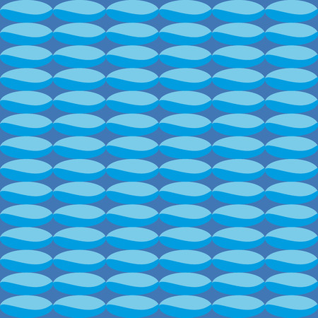 finesse: Pattern with blue geometric shades That simulated sea Illustration