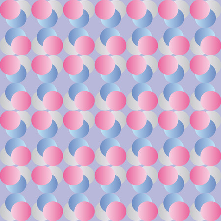 finesse: Pink pattern with gray and blue circles