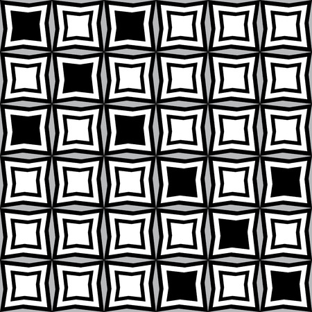 pattern of geometric shapes: Fantasy pattern with black and white irregular geometric shapes