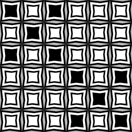 irregular shapes: Fantasy pattern with black and white irregular geometric shapes