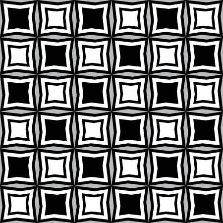 irregular shapes: Fun pattern with black and white irregular geometric shapes