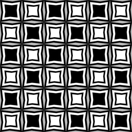 Fun pattern with black and white irregular geometric shapes