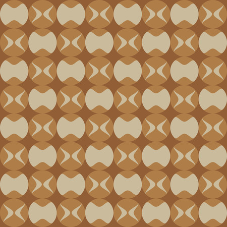 light brown: Fun pattern with dark brown and light decorations