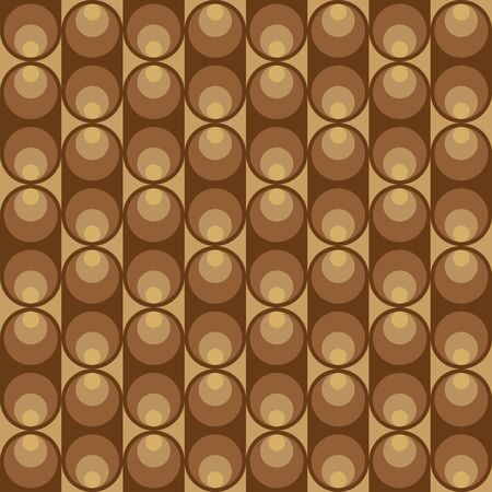 light brown: Geometric pattern with dark and light brown circles