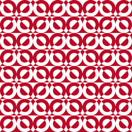 finesse: Fun pattern with white and red semicircles Illustration