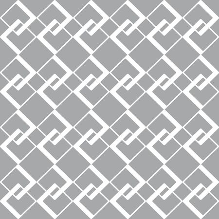finesse: Geometric pattern with white rhombus on gray background Illustration