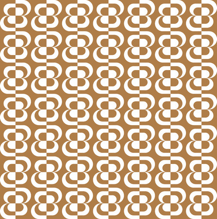brown pattern: Pattern with brown and white stylized flowers Illustration