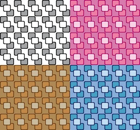 wallpaper pattern: Collection four fun patterns with colorful decorations