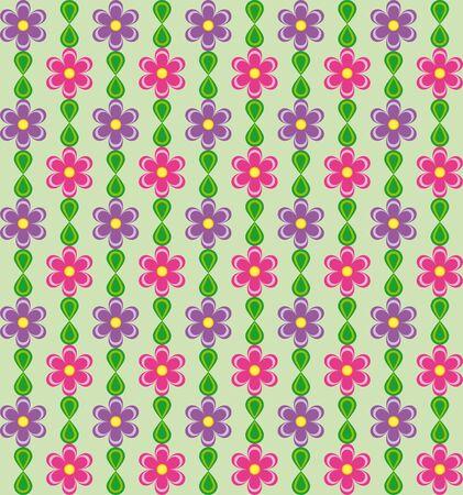 Motivo floreale con rosa e viola fiori su sfondo verde Archivio Fotografico - 54929652