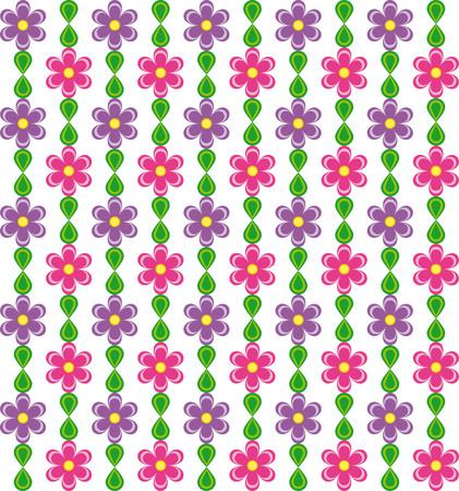 Motivo floreale con rosa e viola fiori su sfondo bianco Archivio Fotografico - 54929656