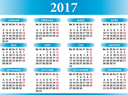 deutsch: Deutsch Kalender 2017 German Calendar