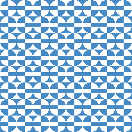 blue circles: Geometric pattern with blue and white circles