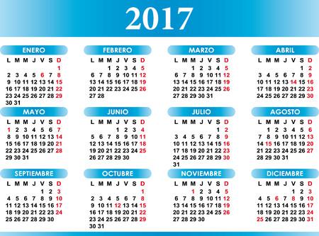 calendrier espagnol 2017 festivités