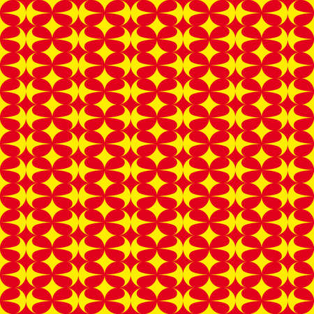 Pattern with red and yellow decorations
