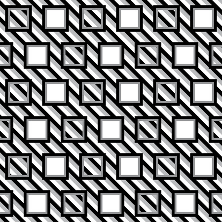 alternating: Geometric pattern with black gray and white alternating squares
