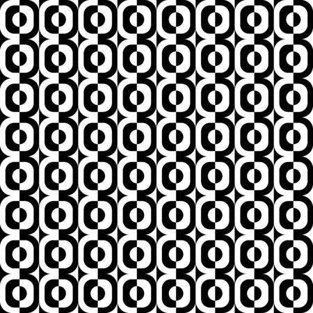 白と黒の幾何学図形をパターン