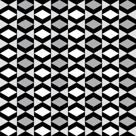 alternating: Geometric pattern with alternating white and black gray rhombus Illustration