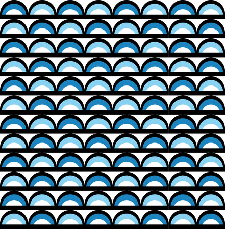 alternating: Fun geometric pattern with blue and black semicircles