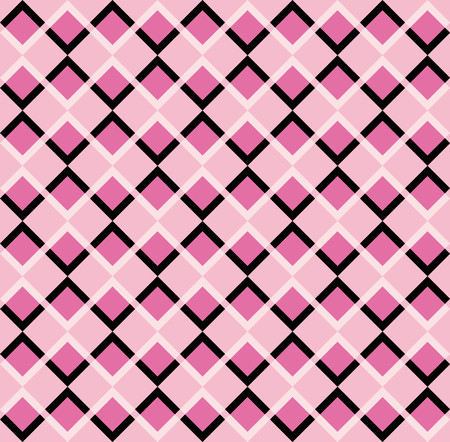 pink and black: Fun pattern with pink and black rhombus