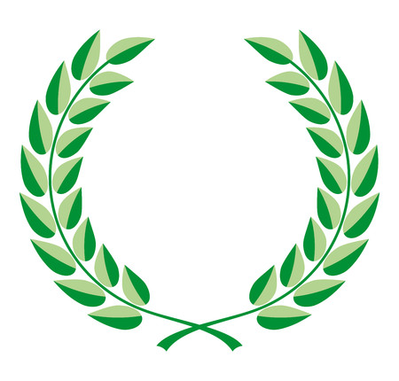 Laurel wreath vector in two shades of green Vector Illustration