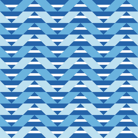 Geometric pattern with white and blue chevron Illustration