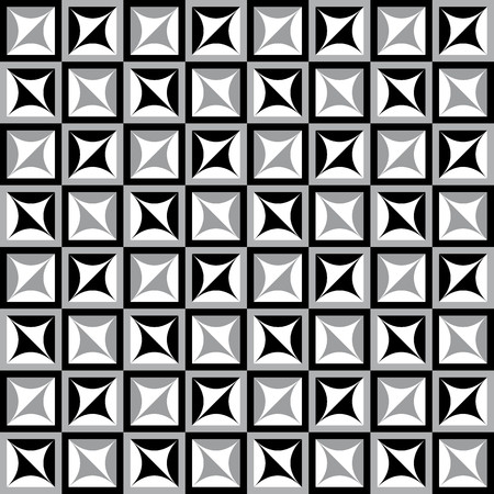 alternating: Fun geometric pattern with white gray and black squares