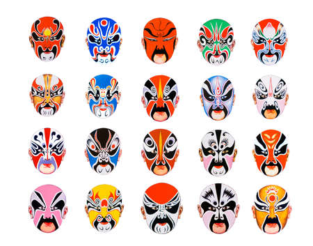 A picture about Masks of bei jing opera.