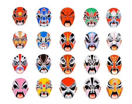chinese opera: A picture about Masks of bei jing opera.