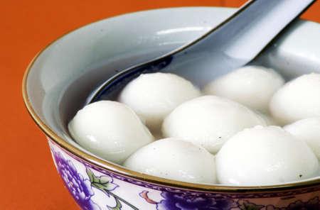 yuan: Traditional sweet chinese glutinous rice ball Stock Photo